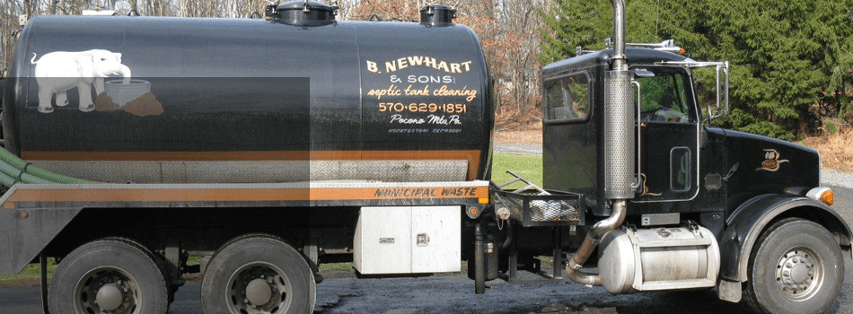 Septic tank draining