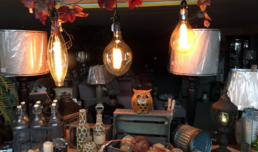 Hanging lamps and other home decor