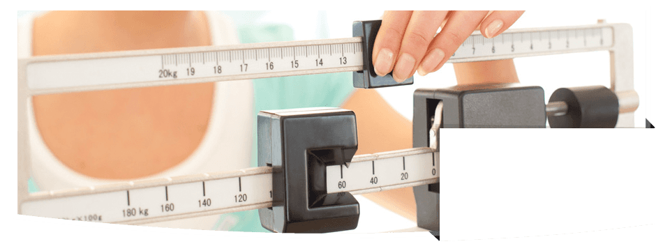 Adjusting the weighing scale