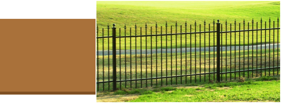 Iron fencing around property