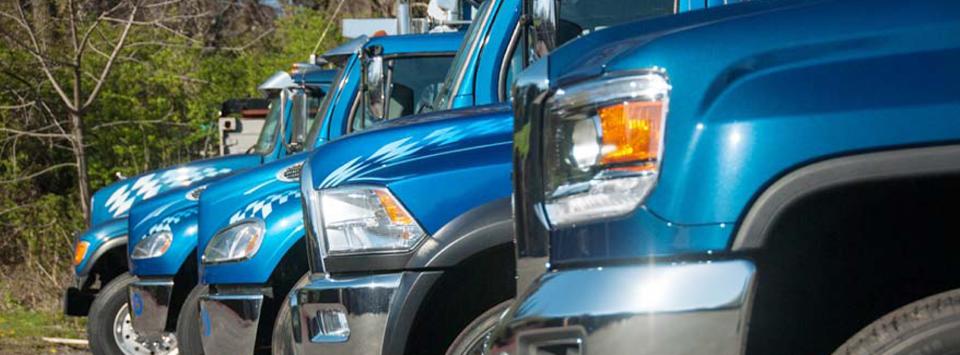 Fleet of trucks - Best Mulch, Inc.