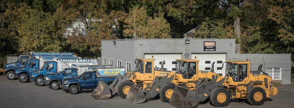 Best Mulch's equipment fleet - Glenn Mills PA