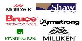 MOHAWK, Shaw, Bruce Hardwood Floors, Armstrong, MANNINGTON, MILLIKEN