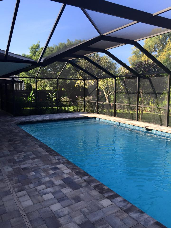 Pool deck colors pool deck design services naples fl for Pool design naples fl