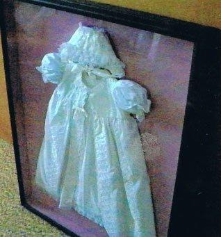 Shadow Box: Christening Dress & Bonnet ca.1960