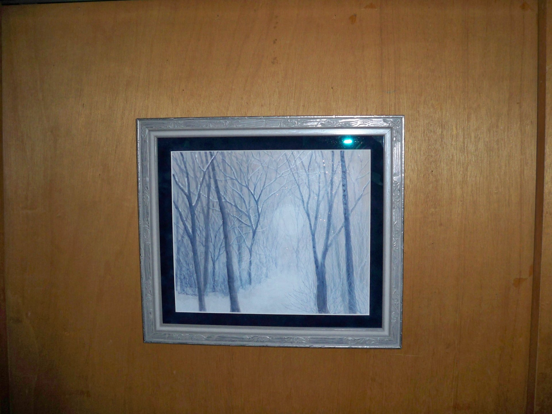 Archivally framed painting of