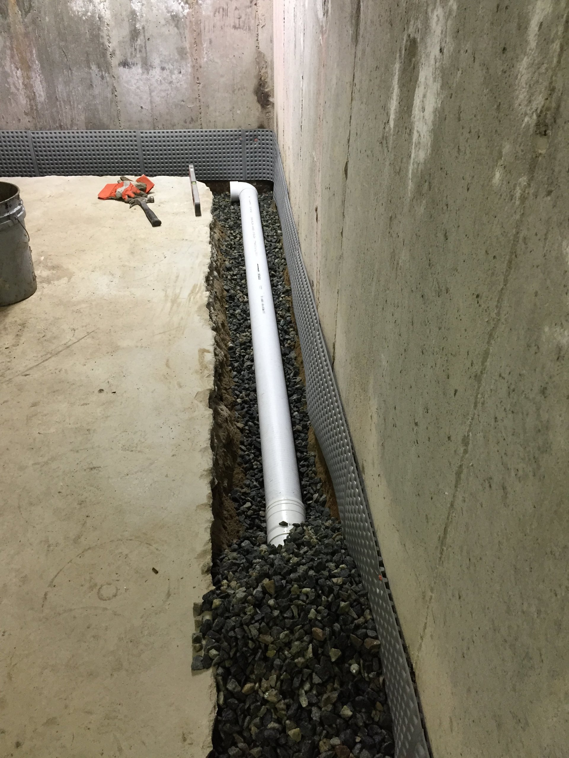 Interior drainage system boston ma french drains system - Interior basement drainage systems ...