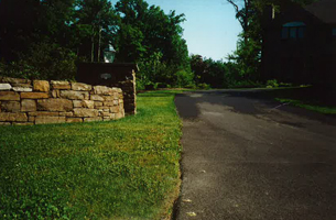 Old rough driveway