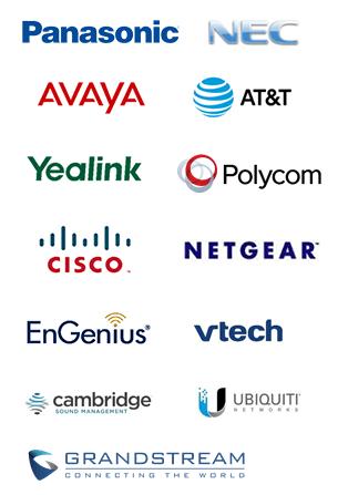 Panasonic, NEC, Avaya, Yealink, Polycom, AT&T, Cisco, Netgear, EnGenius, Vtech, Cambridge Sound System, Ubiquiti, Grandstream