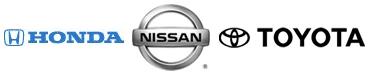 Honda, Nissan,Toyota