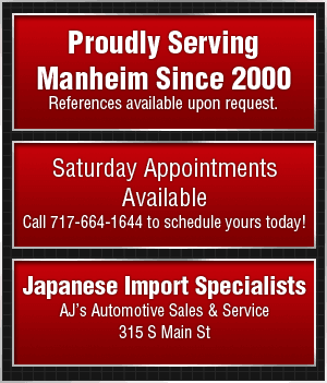 Used Car Buyer - Manheim, PA  - AJ's Automotive Sales & Service