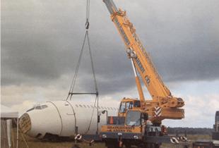 Crane at work | Boston, MA | Shaughnessy & Ahern Co. | 617-269-6600
