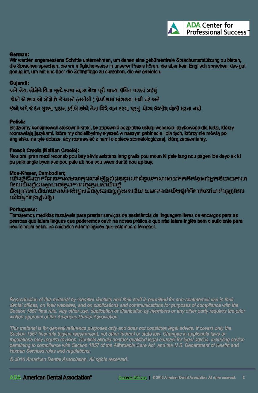 ADA Center for Professional Success Document