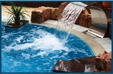 Newly Styled Falling Water Pool