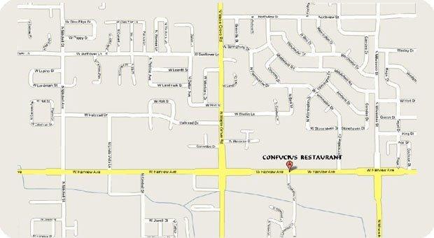 map - Confucius Restaurant - 8775 Fairview Avenue, Boise, ID 83704