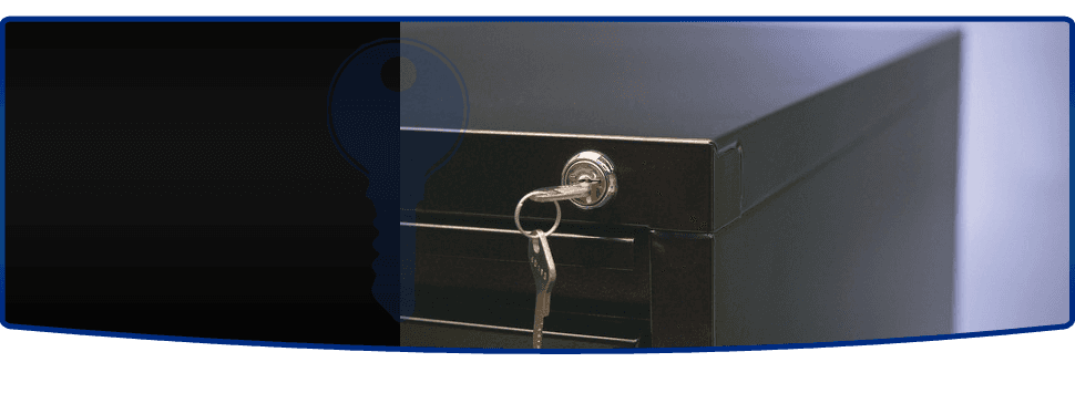 Cabinet with lock
