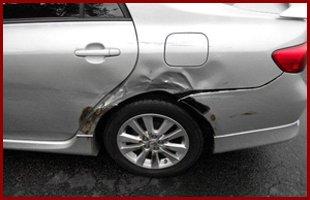 Small collision damage