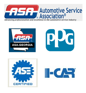 Automotive Service Association, Automotive Service Excellence (ASE) Certified,  PPG Certified, I-CAR Certified