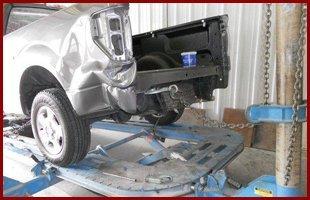 Towing damage car