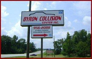 Byron Collision Center, INC signage