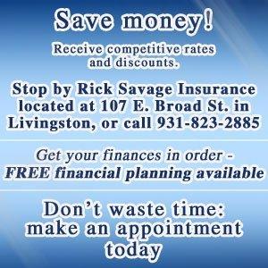Insurance Company - Livingston, TN - Rick Savage Insurance