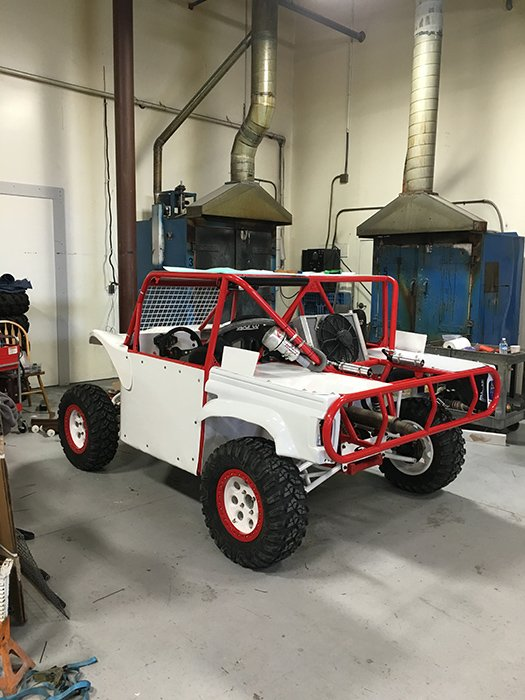 Race Buggy with powder coated frame, body panels and wheels