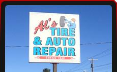 Al's Tire & Auto Repair signage