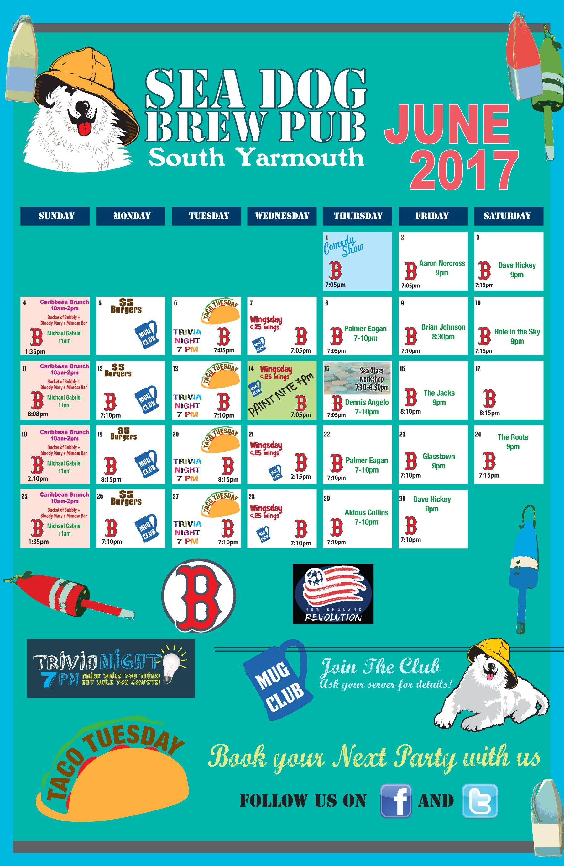 Sea Dog Brew Pub Events Calendar