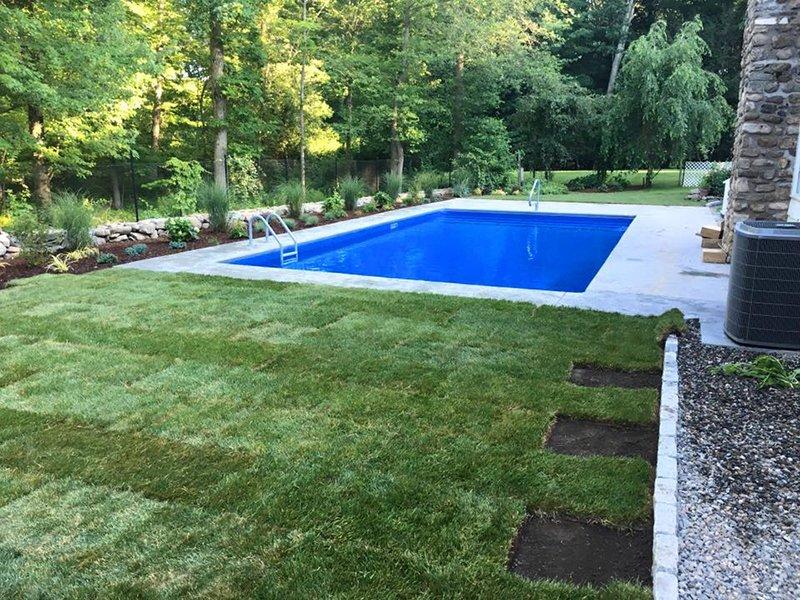 Pool lawn