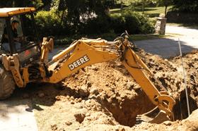 Sewage excavation