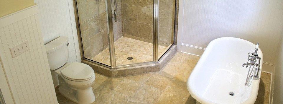 Tub to shower renovation