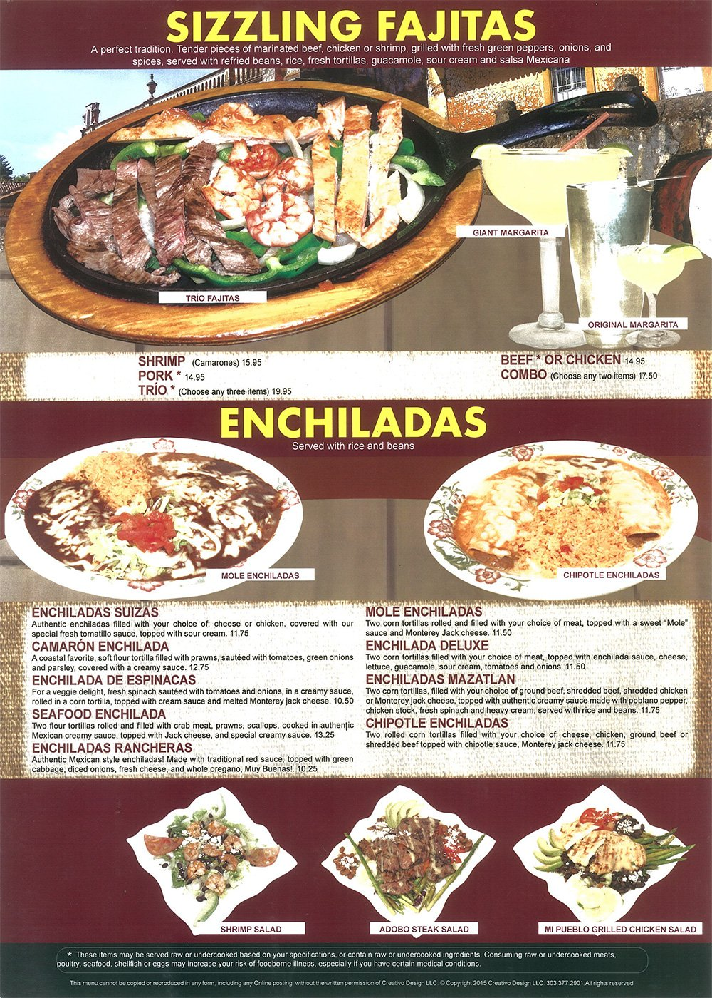 House Specialty Dishes
