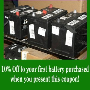 Battery Replacement - Fort Worth, TX - Pro Battery - 10% off any in-store purchase when you present this coupon!