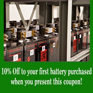 Battery Discount - Fort Worth, TX - Pro Battery - 10% off any in-store purchase when you present this coupon!