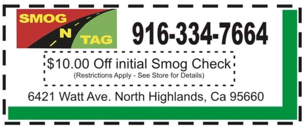 Smog coupons 95660