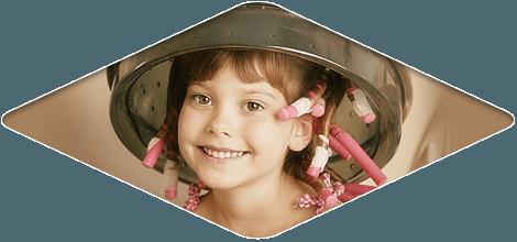 hair curling service children's salon