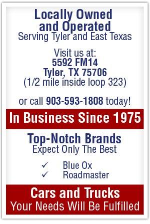 Towing Equipment - Tyler, TX - Nick's Trailer Hitch Shop