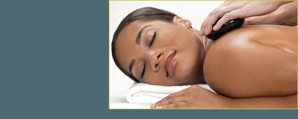 Beautiful lady enjoying the body massage
