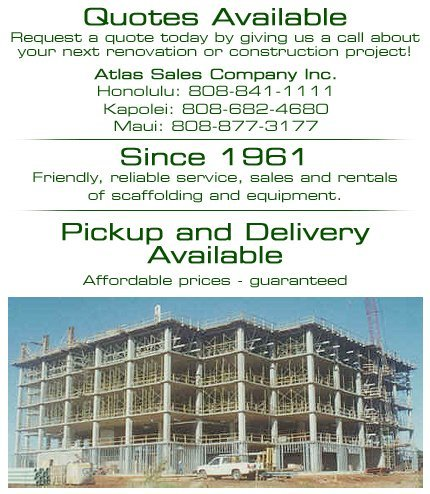 Scaffolding - Honolulu, HI - Atlas Sales Company Inc.