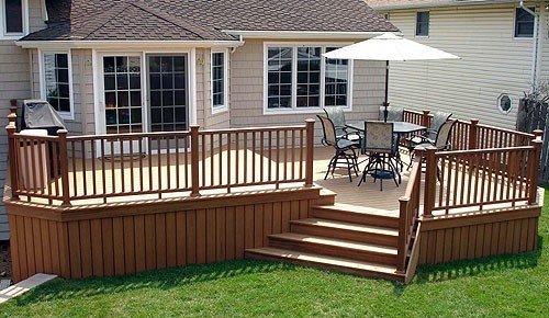 wood patio