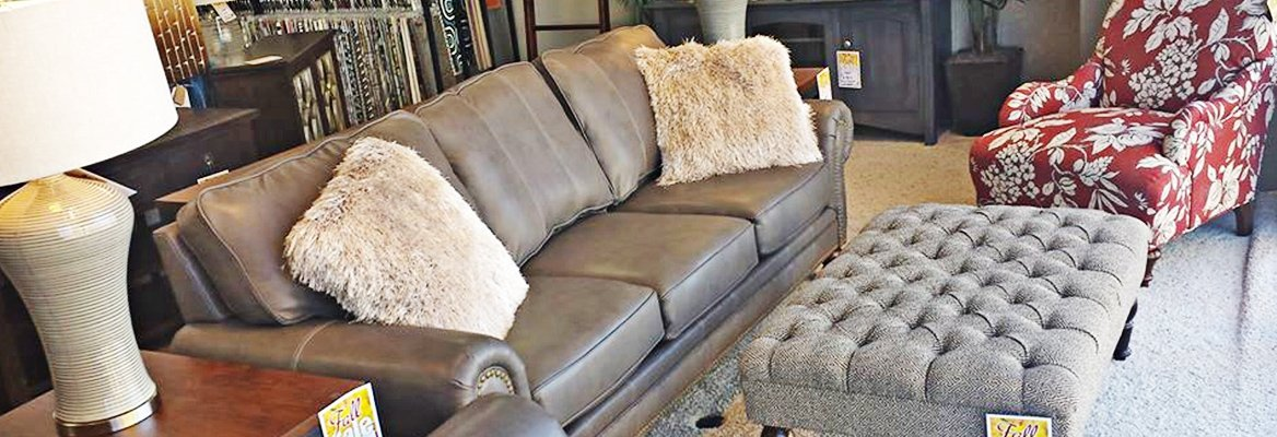 Elegant sofa and furnishings