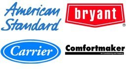 American Standard, Bryant, Carrier, and Comfort Maker.