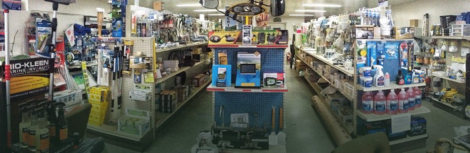 Inside of view of White's RV Specialist Inc store