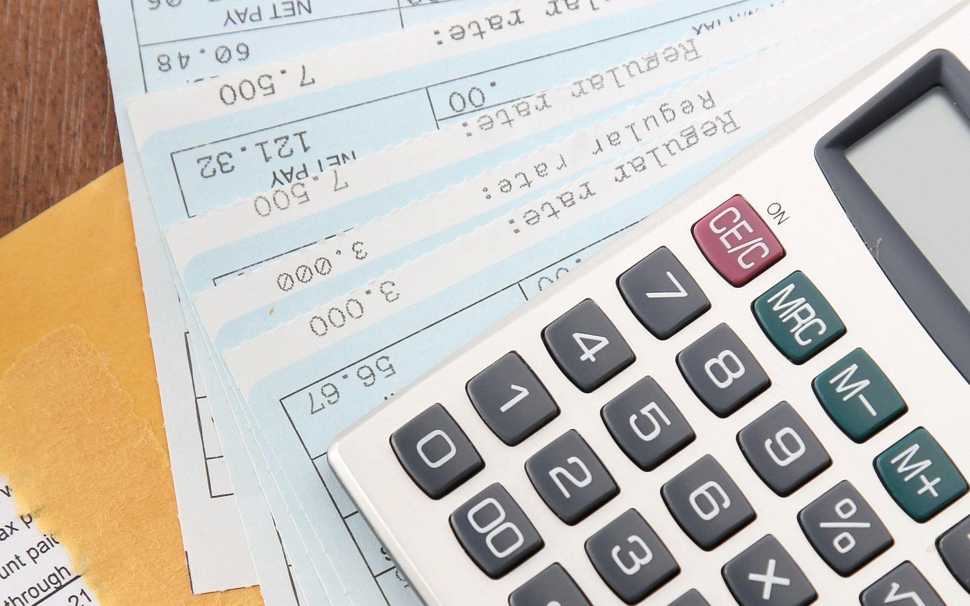 Payroll and a calculator