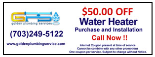 Water Heater | Ashburn, VA | Golden Plumbing Services | 703-249-5122