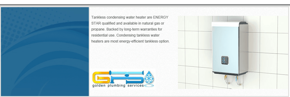 Tankless water heater   Ashburn, VA   Golden Plumbing Services   703-249-5122