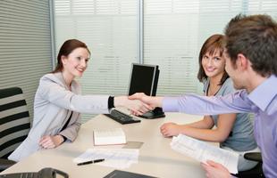 Handshake with the lawyer