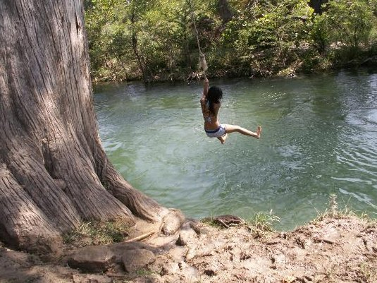 Jumping on river