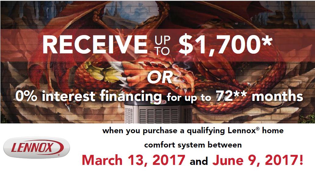 Lennox $1,700 Rebate
