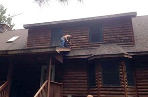 Refinishing and measuring house